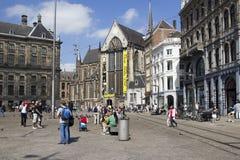 水坝正方形的,阿姆斯特丹教会 图库摄影