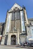 水坝正方形的,阿姆斯特丹,荷兰著名15世纪教会 库存照片