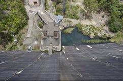 水坝泵站从上面 图库摄影