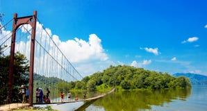 水坝的逃出克隆岛 图库摄影