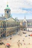 水坝的鸟瞰图在阿姆斯特丹,荷兰 库存图片