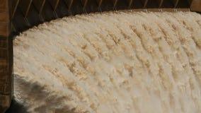 水坝门开张水闸墙壁 影视素材