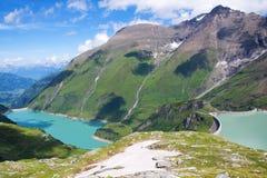 水坝风景在奥地利 库存照片