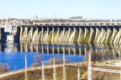 水坝水力发电产业 库存图片
