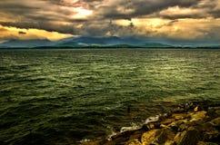 水坝水库在低Tatra,斯洛伐克命名了Liptovska玛拉 库存照片