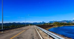 水坝Ratchabapa泰国 库存照片