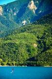 水坝Serre-Ponson 河监禁 在法国东南部 上阿尔卑斯省 普罗旺斯 免版税库存照片