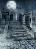 坟园台阶 库存照片