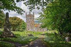坟园在康沃尔郡 免版税库存照片