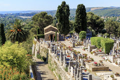 坟园在普罗旺斯,法国 图库摄影