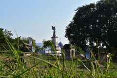 坟园在科利马州墨西哥 库存照片