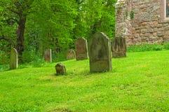 坟园平安的休息处 库存图片