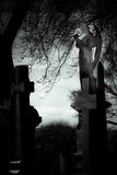 坟园纪念碑 免版税库存图片