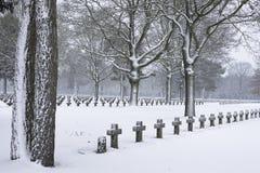 坟园雪 免版税图库摄影