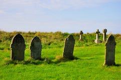 坟园-神话Tintagel,康沃尔郡 库存照片