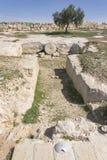 坟场在古老Susya在约旦河西岸 库存图片