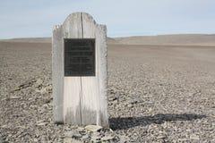 坟墓在努纳武特 免版税图库摄影