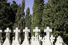 坟墓在墓地 库存图片