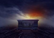 坟墓在森林里 图库摄影