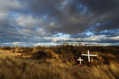 坟墓在沙漠 免版税图库摄影