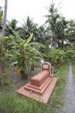 坟墓在湄公河三角洲村庄 图库摄影