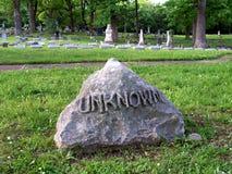 坟墓未知 免版税库存图片