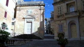 坟墓的教会在马耳他地中海海岛上的Vittoria  股票视频