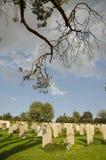 坟茔在公墓 库存照片