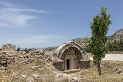 坟茔在Olympos,凯梅尔,安塔利亚 免版税库存照片