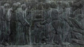 坟茔安心细节在Mirogoj公墓的在萨格勒布,克罗地亚 库存图片