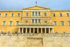 坟茔无名战士议会雅典希腊 库存照片