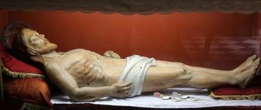 坟茔的耶稣基督 库存照片