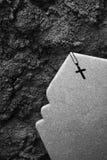 坟茔石头 库存照片
