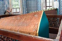 坟茔Hurrem (Roksolana)在Suleymaniye清真寺,伊斯坦布尔 图库摄影