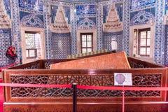 坟茔Hurrem (Roksolana)在Suleymaniye清真寺,伊斯坦布尔 免版税库存图片