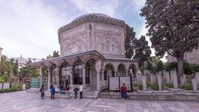 坟茔Hurrem (Roksolana)在Suleymaniye清真寺,伊斯坦布尔 免版税图库摄影