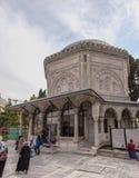 坟茔Hurrem (Roksolana)在Suleymaniye清真寺,伊斯坦布尔 库存图片