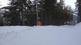 坡道滑雪,被稳定的POV射击 影视素材