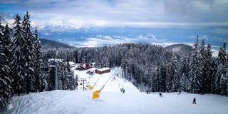 坡道滑雪 免版税图库摄影