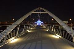 坦佩步行桥 库存照片