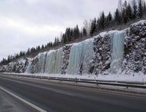 坦佩雷冰墙壁 库存图片