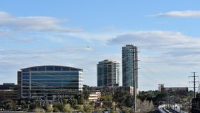 坦佩,亚利桑那建筑风景  免版税图库摄影