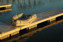 坦佩Town湖木筏,亚利桑那 免版税库存照片