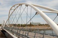 坦佩Town湖水坝走的桥梁 免版税库存照片