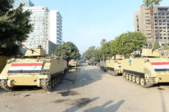 坦克在开罗,埃及 图库摄影