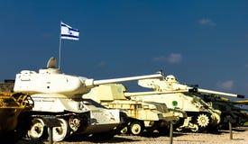 坦克在Latrun的,以色列Yad LaShiryon装甲的军团博物馆 免版税库存照片