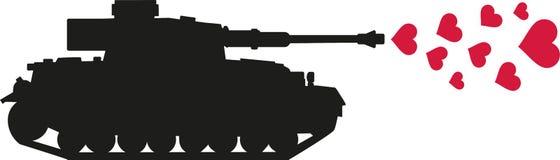 坦克射击心脏爱-没有战争 免版税库存图片