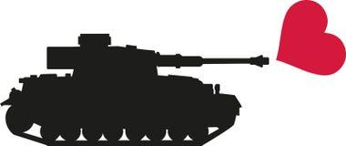 坦克射击心脏-没有战争 库存图片