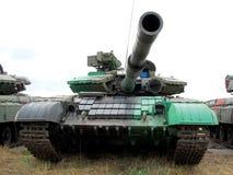 坦克是一张正面图 免版税库存图片