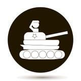 坦克的传染媒介人 向量例证
